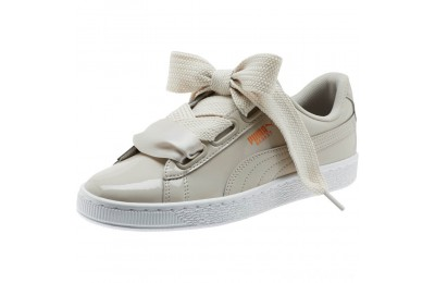Puma Basket Heart Patent Women's Sneakers Silver Gray-Silver Gray Sales