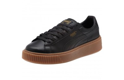 Puma Basket Platform Core Women's Sneakers Black- Black Sales