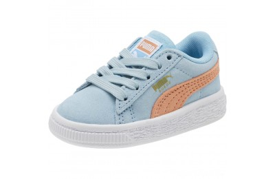 Puma Suede Classic Infant Sneakers CERULEAN-Dusty Coral Sales