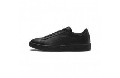 Puma PUMA Smash v2 Leather Sneakers JR Black- Black Sales