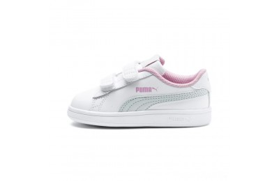 Puma Puma Smash v2 L V Infant Sneakers White-Fair Aqua-Pale Pink Sales