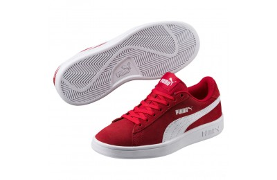 Puma Smash v2 Suede JR Sneakers High Risk Red- White Sales