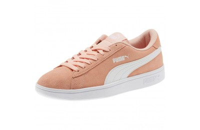 Puma Smash v2 Suede JR Sneakers Peach Bud- White Sales