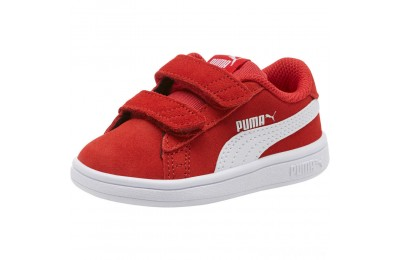 Puma PUMA Smash v2 Suede Sneakers INFHigh Risk Red- White Sales