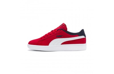 Puma PUMA Smash v2 Buck Sneakers JRHigh Risk Red- White Sales