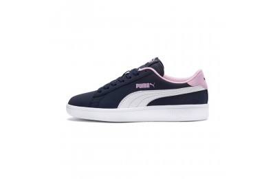 Puma PUMA Smash v2 Buck Sneakers JRPeacoat- White-Pale Pink Sales