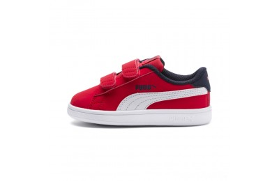 Puma PUMA Smash v2 Buck Sneakers INFHigh Risk Red- White Sales