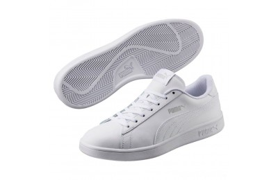 Puma Smash v2 Leather Sneakers White- White Sales