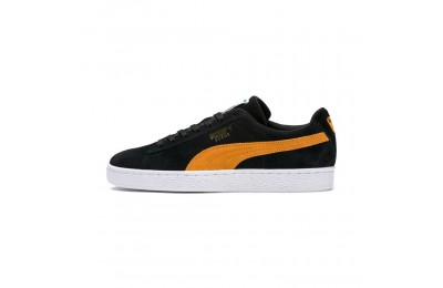 Puma Suede Classic Sneakers Black-Orange Pop Sales