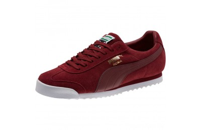 Puma Roma Suede Sneakers Pomegranate-Pomegranate Sales