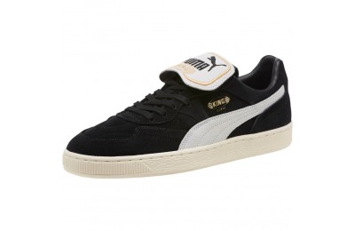 Puma KING SUEDE LEGENDS Black- Whit-Whisper Sales