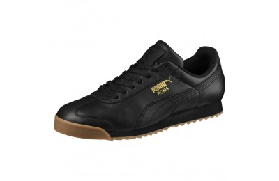 Puma Roma Classic Gum Sneakers Black- Team Gold Sales