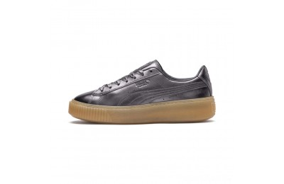 Puma Basket Platform Luxe Women's Sneakers QUIET SHADE-QUIET SHADE Sales