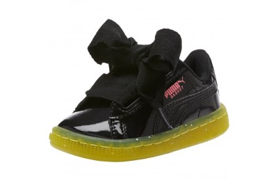 Puma Basket Heart Iced Glitz Block Infant Sneakers Black-Sulphur Spring Sales