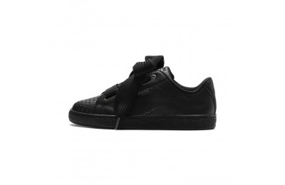 Puma Basket Heart Lux Women's Sneakers Black- Black Sales
