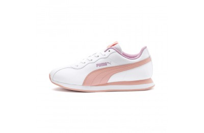 Puma Turin II JR Sneakers P.White-Peach Bud-Pale Pink Sales