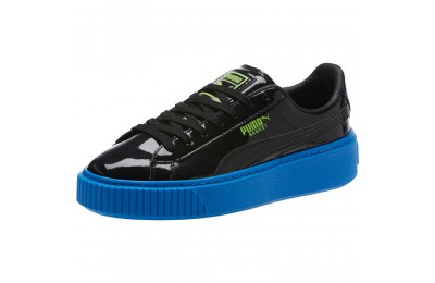 Puma Basket Platform Block JR Sneakers Black-Plat Blue-Green Gecko Sales