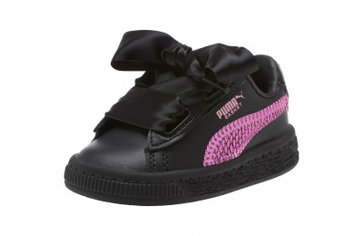 Puma Basket Heart Bling Infant Sneakers Black-Orchid Sales