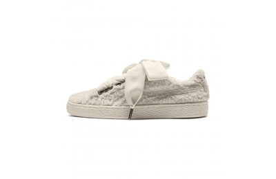 Puma Basket Heart Teddy Women's Sneakers Whisper White-Whisper White Sales