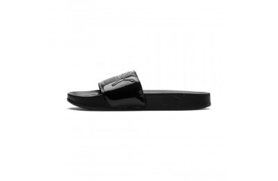 Puma Women's Leadcat Patent Slide Sandals Black- Black Sales