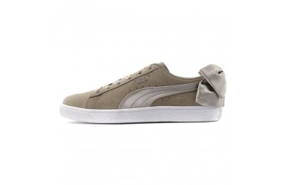 Puma Suede Bow Women's Sneakers Elephant Skin-Silver Cloud Sales