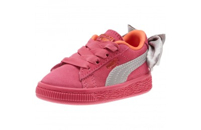 Puma Suede Bow Infant Sneakers Fuchsia Purple-Nasturtium Sales