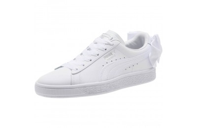 Puma Basket Bow Jr White- White Sales