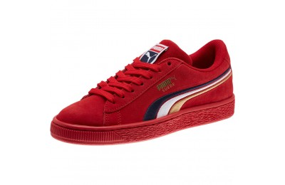 Puma Suede Classic Multicolour Embroidery JR Sneakers Red-Peacoat-White-Gold Sales