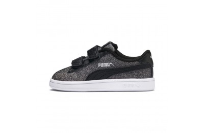 Puma Smash v2 Glitz Glam V Infant Sneakers Black- Silver Sales