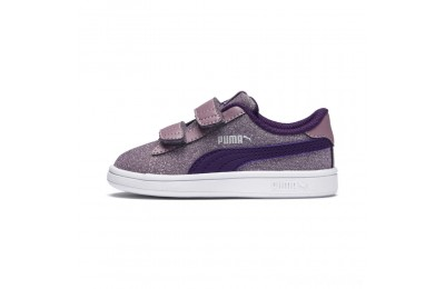 Puma Smash v2 Glitz Glam V Infant Sneakers Elderberry-Indigo-Silver-Wht Sales