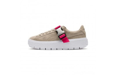 Puma Platform Trace Buckle Women's Sneakers Cement-Cement Sales