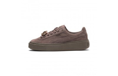 Puma Suede Platform Gem Women's Sneakers Peppercorn-Peppercorn Sales