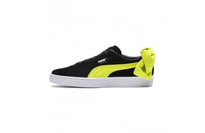 Puma Suede Bow Block Women's Sneakers Black-Sulphur Spring Sales