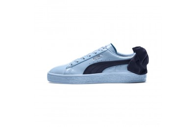 Puma Basket Bow Patent JR Sneakers CERULEAN-Peacoat Sales
