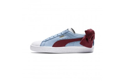 Puma Basket Bow New School Women's Sneakers P.White-CERULEAN-Pomegranate Sales