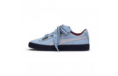 Puma Basket Heart New School Women's Sneakers CERULEAN-CERULEAN Sales