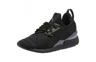 Puma Muse Knit Women's Sneakers Iron Gate- Black Sales