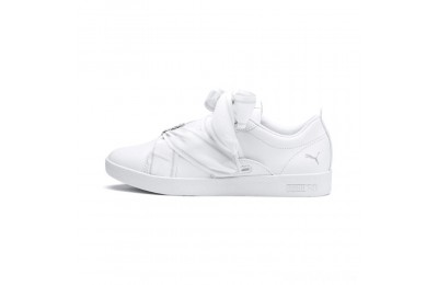 Puma PUMA Smash Women's Buckle Sneakers White- Silver Sales