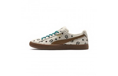 Puma PUMA x TYAKASHA Clyde Graphic Sneakers Birch Sales