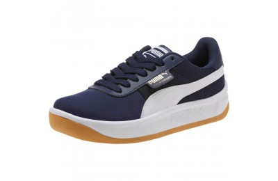 Puma California Casual Sneakers JRPeacoat- White- Gold Sales