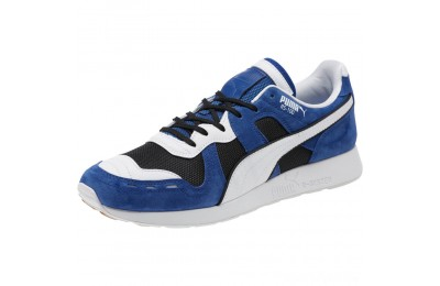 Puma RS-100 Nubuck Sneakers Black-Sodalite Blue-White Sales