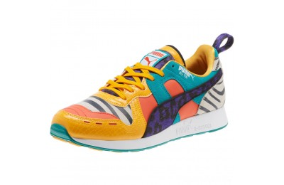 Puma RS-100 Animal Sneakers White-Zinnia-Cherry Tomato Sales