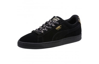 Puma Suede Wild Women's Sneakers Black- Gold-Pebble Sales