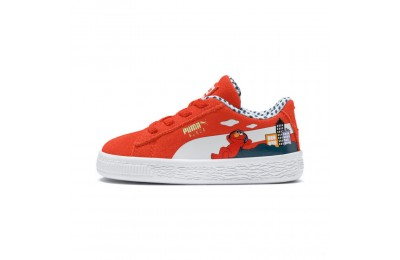 Puma Sesame Street 50 Suede Sneakers INFCherry Tomato- White Sales