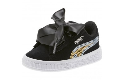 Puma Suede Heart Trailblazer Sequin Sneakers PS Black- Team Gold Sales