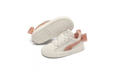 Puma Suede Jelly Bow AC Sneakers PSWhis White-Peach Bud-Silver Sales