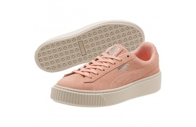 Puma Suede Super Jewel Platform Sneakers JRPeach Bud-Whisper White Sales