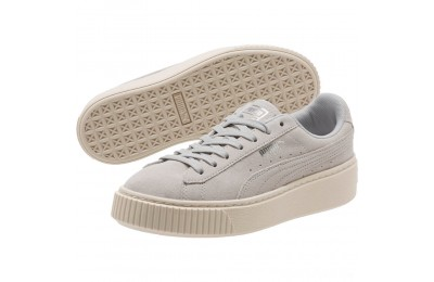 Puma Suede Super Jewel Platform Sneakers JRGray Violet-Whisper White Sales