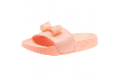 Puma Leadcat Jelly Bow Slide Sandals PSPeach Bud-Bright Peach Sales