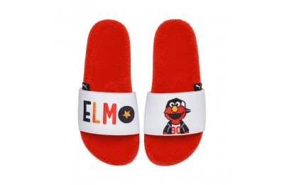 Puma Sesame Street 50 Leadcat Slide Sandals PSCherry Tomato- White Sales